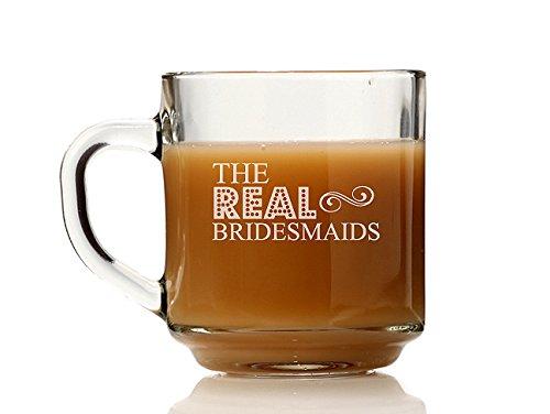 Chloe and Madison The Real Bridesmaids Glass Coffee Mug Set of 4
