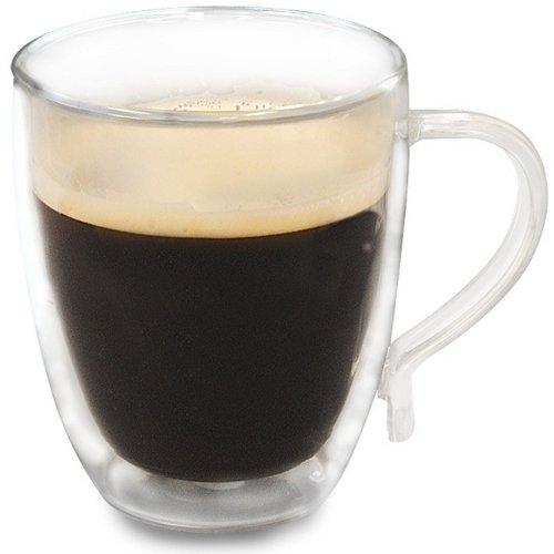 Primula 16 Ounce Double Walled Borosilicate Glass Coffee Mug Set of 4