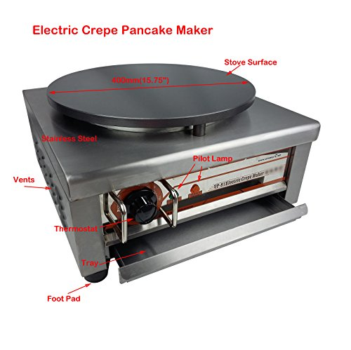 Electric Crepe Maker Machine Commercial Pancake Kitchen Maker 400mm1575