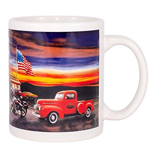 Route US 66 Ceramic 12 Oz Coffee Mug