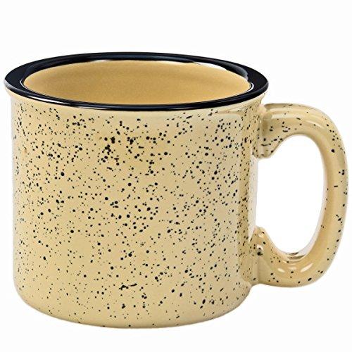 Santa Fe Ceramic Campfire Coffee Mug in Fleck Sand Beige 12 oz