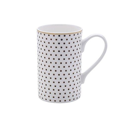 Mikasa Bone China Coffee Mug 16-Ounce Dots WhiteGold