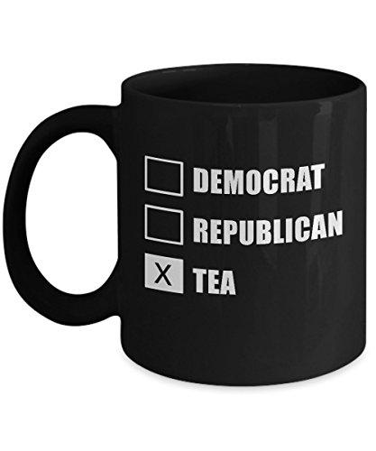 Democrat Republican Tea Funny Political Black Novelty Acrylic Coffee Mug 11oz