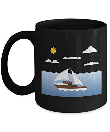 Sailor And Boating Acrylic Coffee Mug 11oz Black Ocean Sea Boating Lovers