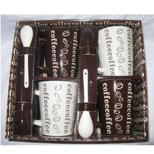 Home Essentials Home Essentials Stone Coffee Mugs And Spoons