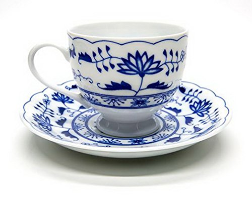 Blue And White Porcelain Coffee Mug Ceramics Flower Tea Cup - Fine Bone China