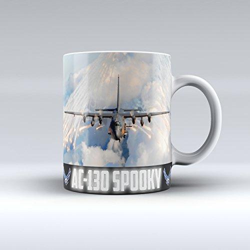 Air Force Mug AC-130 gunship Ceramic Coffee Mug 15OZ