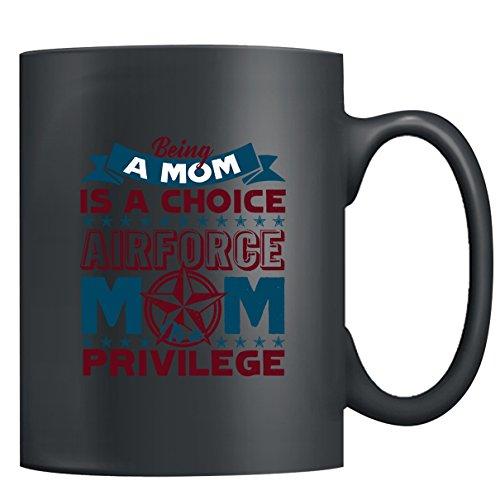 Air Force Mug Coffee - Being An Air Force Mom Tea Cup Coffee Mug Ceramic Black Mugs 15oz Perfect Gift For Friends