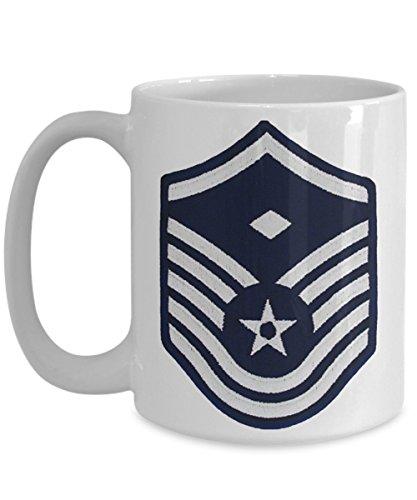US Air Force Coffee Mug - First Sergeant Coffee Mug - MSgt E7 - 15 oz Mug - Gift for Veteran Airman Promotion Retirement