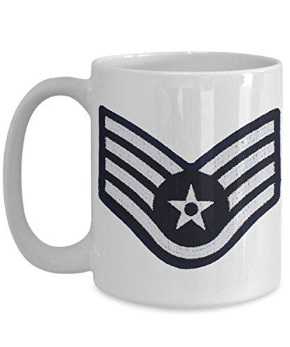 US Air Force Coffee Mug - Staff Sergeant Coffee Mug - SSgt E5 - 15 oz Mug - Gift for Veteran Airman Promotion