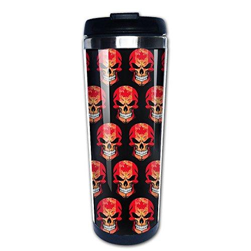 Canada Leaf Skull Cool Insulated Travel Mugs Stainless Steel Vacuum Coffee Cup Mug Tumbler 14 Oz