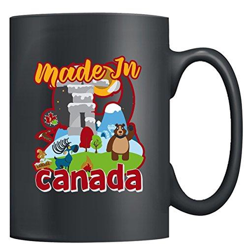 Canada Mug Ceramic - Made In Canada Coffee Mugs Tea Cup Black Mug 15oz Little Gifts For Someone Special