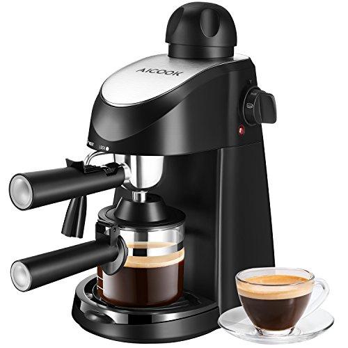 Espresso Machine Aicook 35Bar Espresso Coffee Maker Espresso and Cappuccino Machine with Milk Frother Espresso Maker with Steamer Black