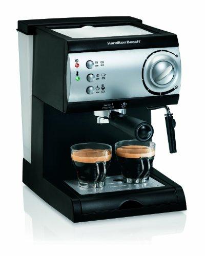 Hamilton Beach Espresso Machine with Steamer - Cappuccino Mocha Latte Maker 40715