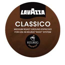 Lavazza Espresso Classico Keurig Rivo Pack 72 Count