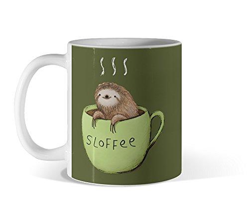 Sloffee 11oz Army green Mug - Design By Humans
