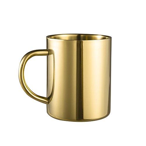 IMEEA Coffee Mug 135oz400ml Double Wall Stainless Steel Tea Mug Set of 1 Gold