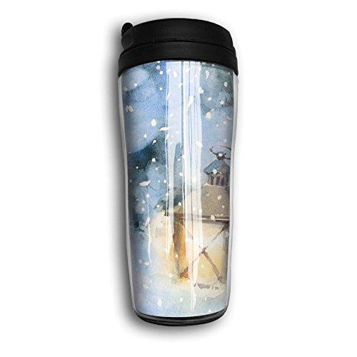 Lonely Street Light Cute Coffee Mug Custom Tea Cup Insulated Travel Mug Christmas Gift 350ml