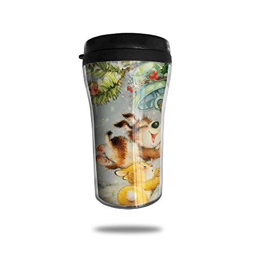 Sound A Christmas Jingling Bell Bunny Cute Coffee Mug Custom Tea Cup Insulated Travel Mug Christmas Gift 250ml