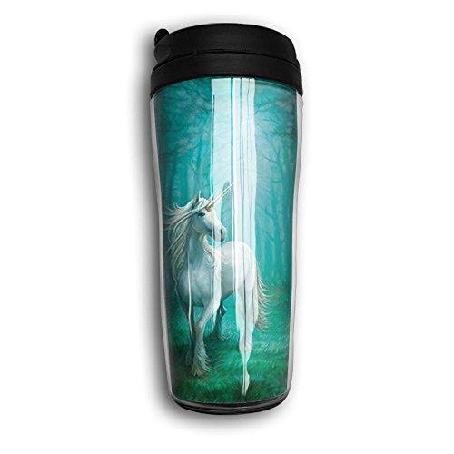 White Unicorn Lovely Coffee Mug Custom Tea Cup Insulated Travel Mug Christmas Present 350ml