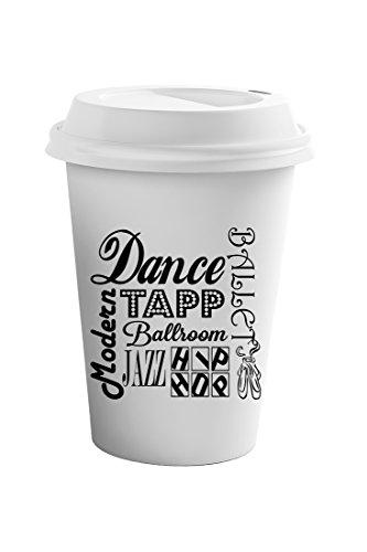 Style In Print Dance Tap Ballroom Jazz Hip Hop Modern Coffee Ceramic Travel Tumbler Mug 11oz