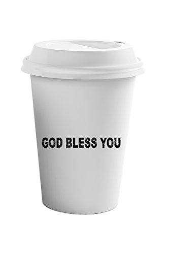 Style In Print God Bless You Funny FoodDrink Coffee Ceramic Travel Tumbler Mug 11oz