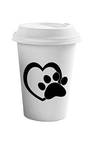 Style In Print Heart Paw 1 Coffee Ceramic Travel Tumbler Mug 11oz