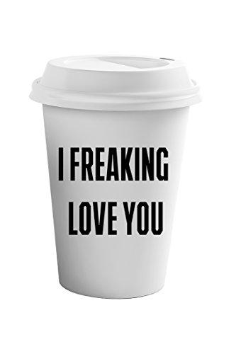 Style In Print I Freaking Love You Funny Wedding Coffee Ceramic Travel Tumbler Mug 11oz