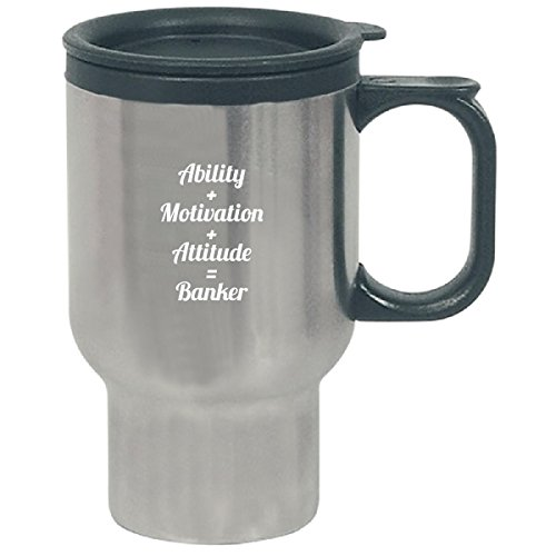 Ability Motivation Attitude Banker Awesome Typography Simple - Travel Mug