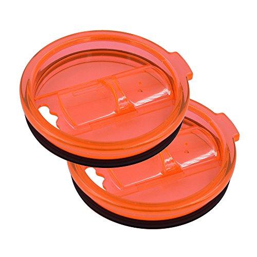 Googfor 2 Pack 30 oz Tumbler Lid Spill Proof and Splash Resistant Tumbler Lid for Yeti Rambler RTIC and Ozark Trail Tumblers30 oz 30 oz Orange