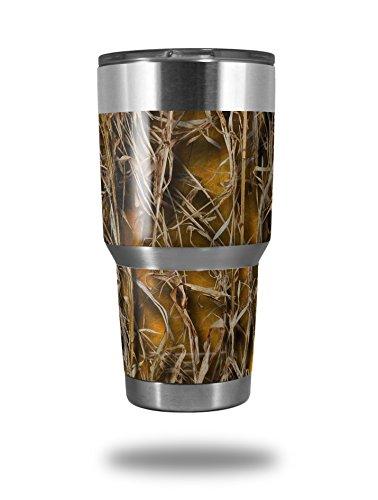 Skin Decal Wrap for Yeti Tumbler Rambler 30 oz WraptorCamo Grassy Marsh Camo Orange TUMBLER NOT INCLUDED