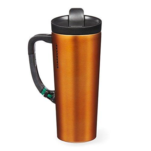 Starbucks Stainless Steel Clip Tumbler - Orange 16 Fl Oz