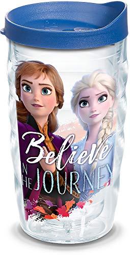 Tervis 1335802 Disney Frozen 2 Anna Elsa Journey BPA Free Insulated Travel Tumbler with Wrap Lid 10 oz Wavy - Tritan Clear