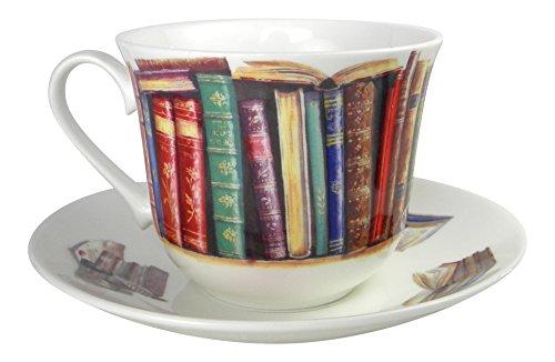 Roy Kirkham Creative Writing Book Lovers Breakfast Tea cup and Saucer Set Fine Bone China