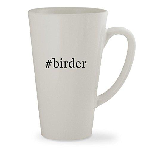 birder - 17oz Hashtag White Sturdy Ceramic Latte Cup Mug