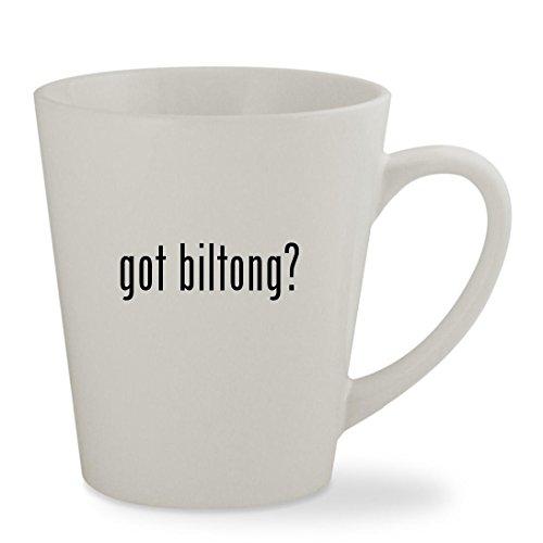 got biltong - 12oz White Sturdy Ceramic Latte Cup Mug