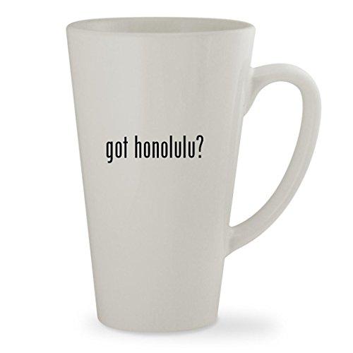 got honolulu - 17oz White Sturdy Ceramic Latte Cup Mug