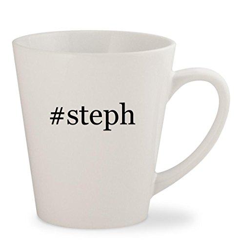 steph - White Hashtag 12oz Ceramic Latte Mug Cup