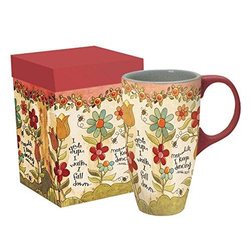 LANG - 18 oz Ceramic Latte Mug - I Keep Dancing - Artwork by Karen H Good