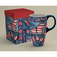 LANG - 18 oz Ceramic Latte Mug - Liberty - Artwork by Susan Winget