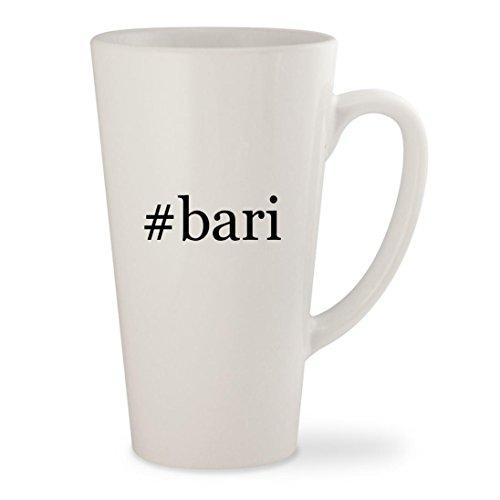 bari - White Hashtag 17oz Ceramic Latte Mug Cup