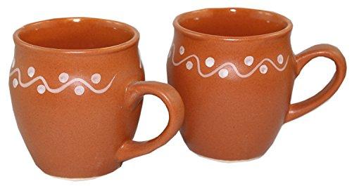 Odishabazaar Kulhar Kulhad Cups Traditional Indian Chai Tea Cup Set of 2 Tea Mug Coffee Mug