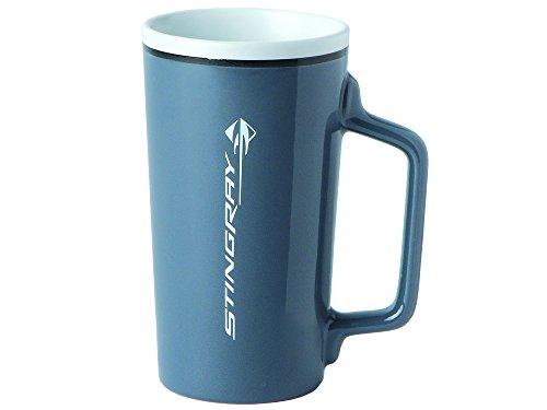 Corvette Tall Latte  Coffee Mug Gray Stingray C7 Logo