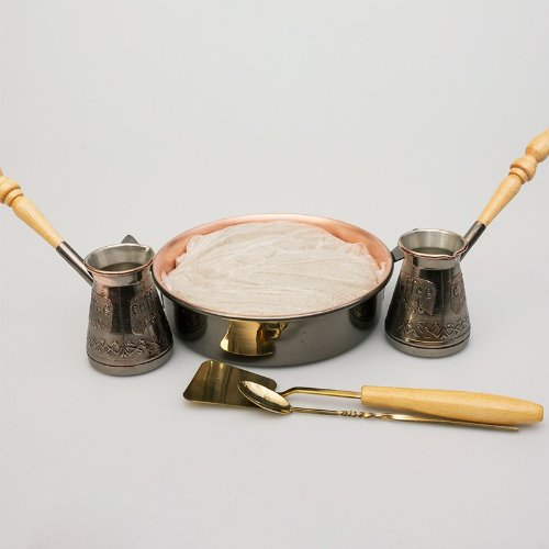 Tete-a-Tete 2 Cezve w Hearth Sand Turkish Coffee Set
