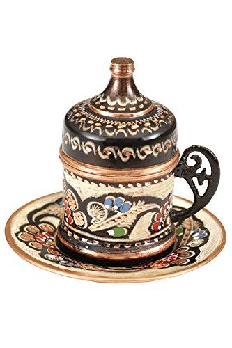 Handmade Painted Copper Turkish Arabic Coffee Espresso Cup 1 PC