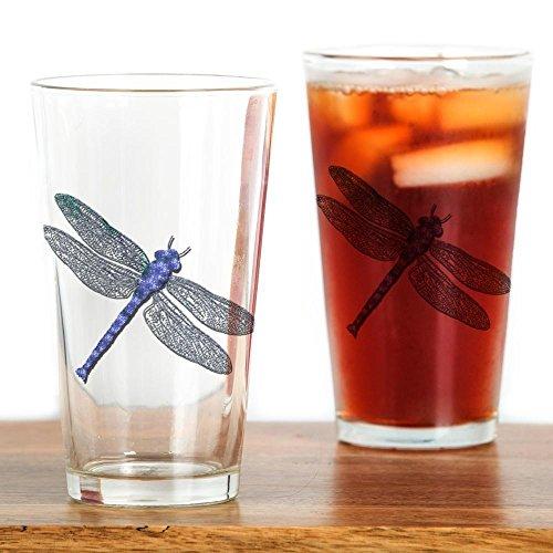 CafePress - Blue Dragonfly Pint Glass - Pint Glass 16 oz Drinking Glass