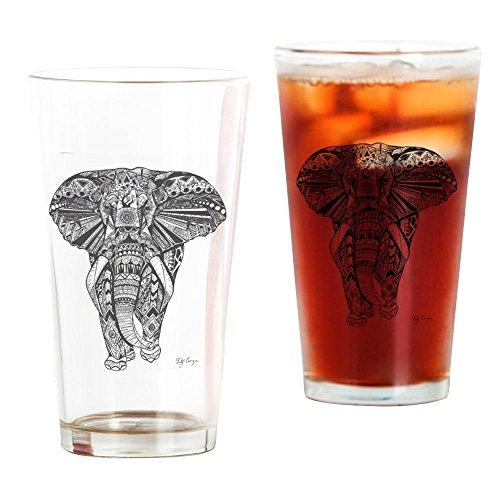 CafePress - Elephant - Pint Glass 16 oz Drinking Glass