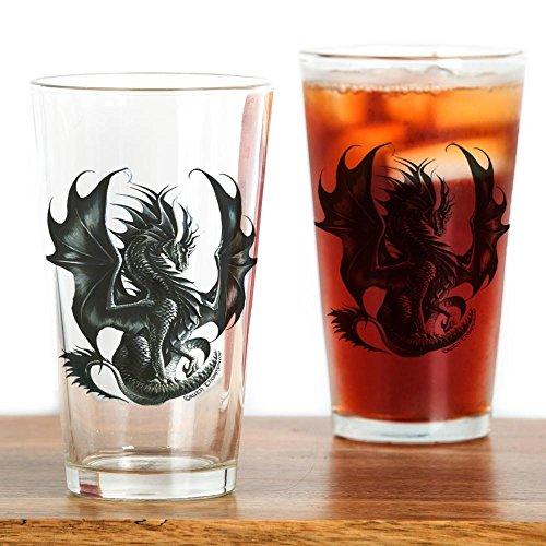 CafePress - Ruth Thompsons Obsidian Dragon - Pint Glass 16 oz Drinking Glass