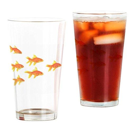 CafePress - Three Goldfishes - Pint Glass 16 oz Drinking Glass