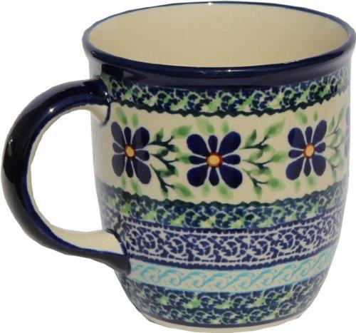 Polish Pottery Mug 12 Oz From Zaklady Ceramiczne Boleslawiec 1105-du121 Unikat Pattern Capacity 12 Oz